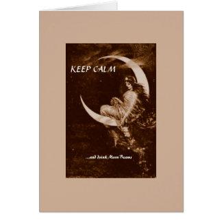 KEEP CALM -- blank inside Card