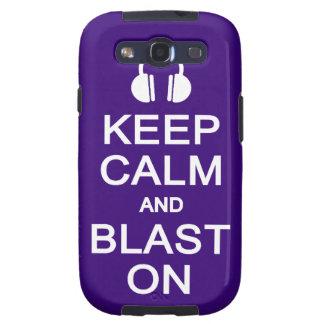 Keep Calm & Blast On Samsung case Samsung Galaxy S3 Covers