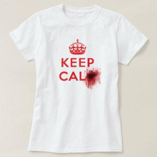 Keep Calm (Blood Splatter) - Ladies T-Shirt