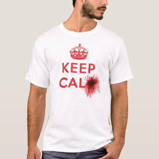 Keep Calm (Blood Splatter) - T-Shirt