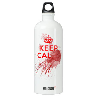 Keep Calm Bloody Zombie Aluminum Water Bottle