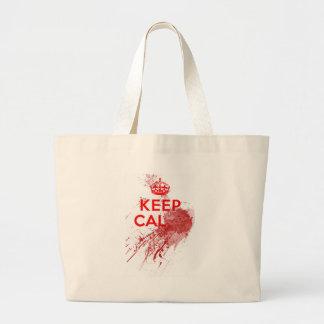 Keep Calm Bloody Zombie Jumbo Tote Bag