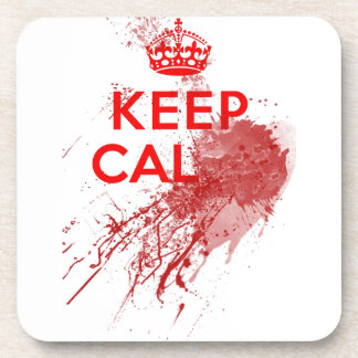Keep Calm Bloody Zombie Beverage Coaster