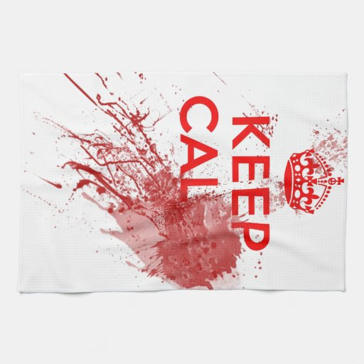 Keep Calm Bloody Zombie Kitchen Towels