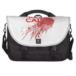 Keep Calm Bloody Zombie Laptop Messenger Bag