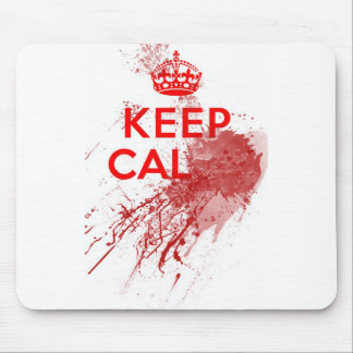 Keep Calm Bloody Zombie Mouse Pad