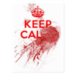 Keep Calm Bloody Zombie Post Cards