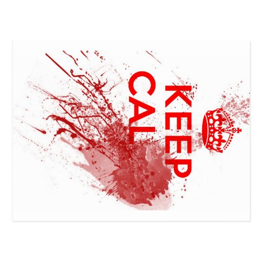 Keep Calm Bloody Zombie Post Card