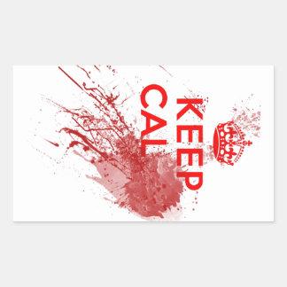 Keep Calm Bloody Zombie Rectangular Sticker