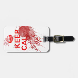 Keep Calm Bloody Zombie Tags For Luggage