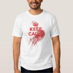 Keep Calm Bloody Zombie Tee Shirt