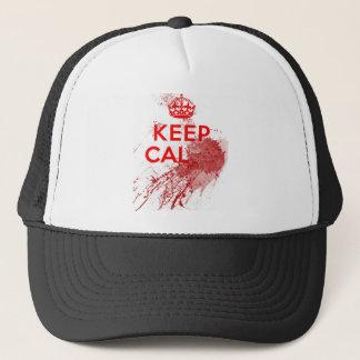 Keep Calm Bloody Zombie Trucker Hat