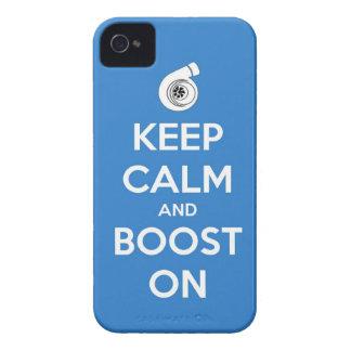 keep calm boost  car turbo engine tuner super musc Case-Mate iPhone 4 case