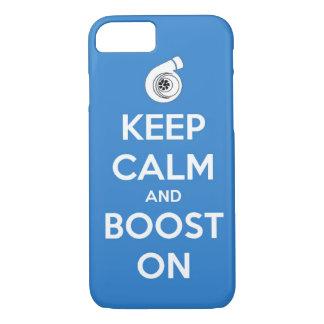 keep calm boost  car turbo engine tuner super musc iPhone 7 case