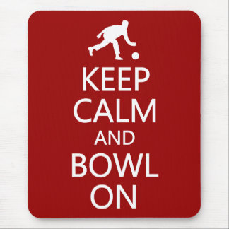 Keep Calm & Bowl On custom color mousepad