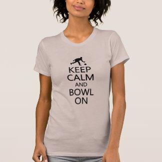 Keep Calm & Bowl On shirt - choose style & color