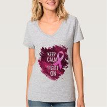 Keep Calm Breast Cancer PINK T-Shirt