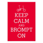 KEEP CALM Brompton bicycle poster