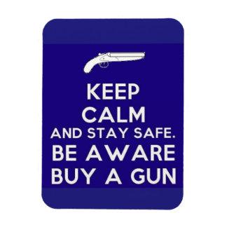 Keep Calm Buy A Gun Rectangular Photo Magnet