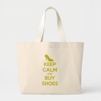 Keep Calm & Buy Shoes Large Tote Bag