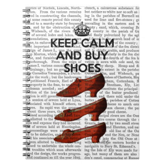 Keep Calm Buy Shoes Notebook