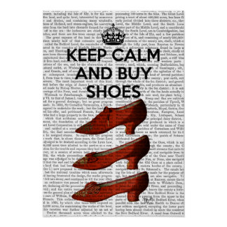 Keep Calm Buy Shoes Poster