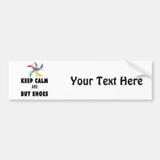 Keep Calm & Buy Shoes Quote Bumper Sticker
