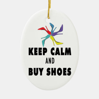Keep Calm & Buy Shoes Quote Ornaments