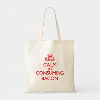 Keep calm by consuming Bacon Canvas Bag