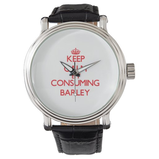 Keep calm by consuming Barley Wristwatch