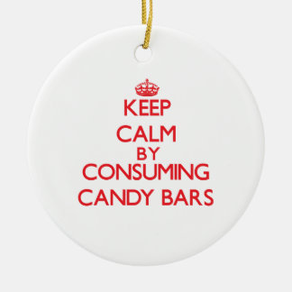 Keep calm by consuming Candy Bars Ornaments
