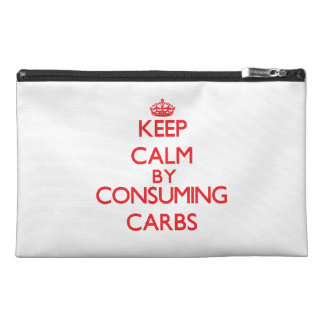 Keep calm by consuming Carbs Travel Accessory Bag