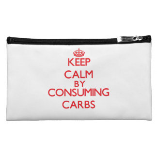Keep calm by consuming Carbs Cosmetic Bag