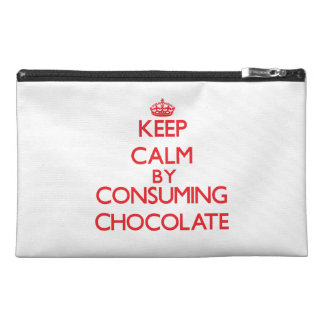 Keep calm by consuming Chocolate Travel Accessory Bag