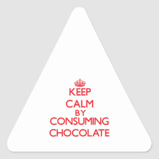 Keep calm by consuming Chocolate Stickers