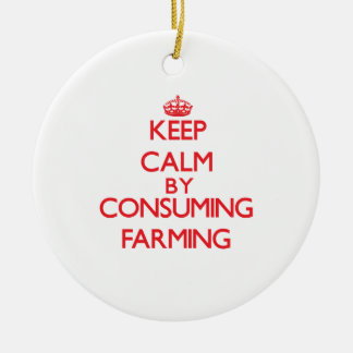 Keep calm by consuming Farming Christmas Tree Ornaments