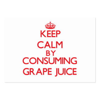 Keep calm by consuming Grape Juice Business Card