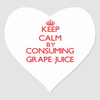 Keep calm by consuming Grape Juice Heart Sticker