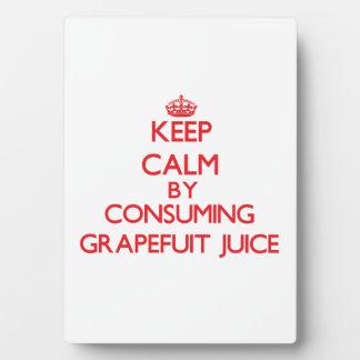 Keep calm by consuming Grapefuit Juice Photo Plaque