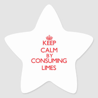 Keep calm by consuming Limes Stickers