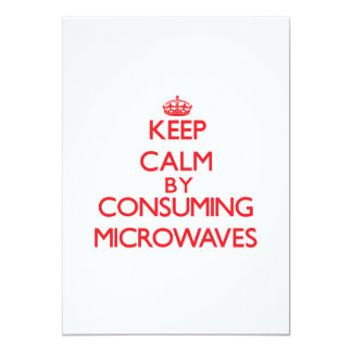 Keep calm by consuming Microwaves Announcement