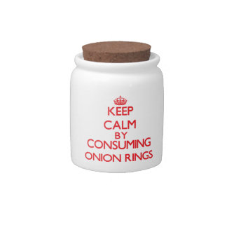 Keep calm by consuming Onion Rings Candy Dish