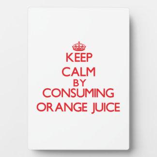 Keep calm by consuming Orange Juice Plaque