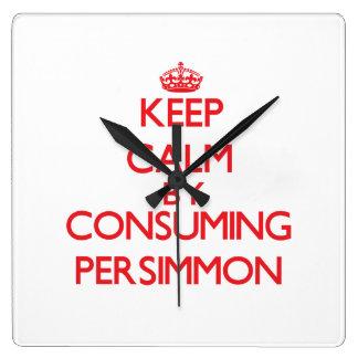 Keep calm by consuming Persimmon Wall Clocks