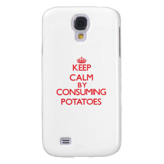 Keep calm by consuming Potatoes Samsung Galaxy S4 Covers