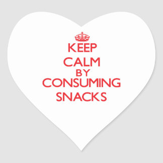 Keep calm by consuming Snacks Sticker