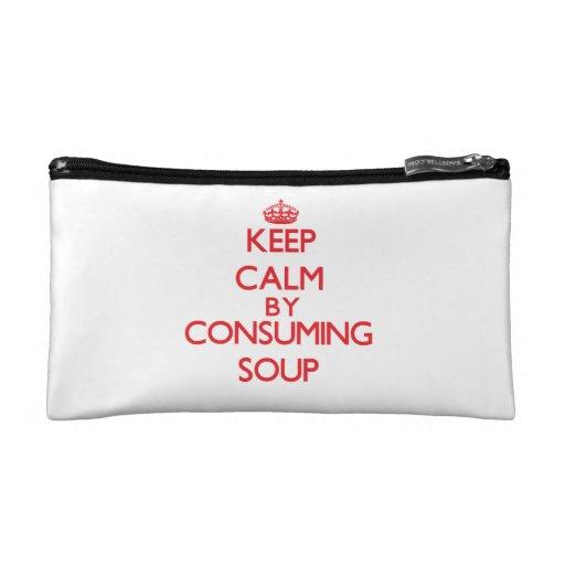 Keep calm by consuming Soup Makeup Bag