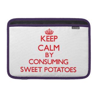 Keep calm by consuming Sweet Potatoes MacBook Air Sleeves