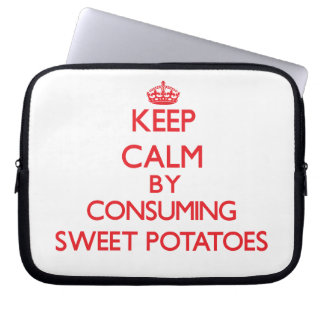 Keep calm by consuming Sweet Potatoes Computer Sleeve