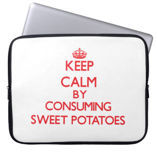 Keep calm by consuming Sweet Potatoes Laptop Sleeves